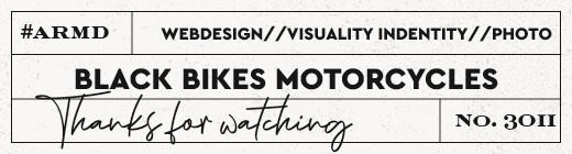 "Produktlabel Webdesign ""Black Bikes Motorcycles"""