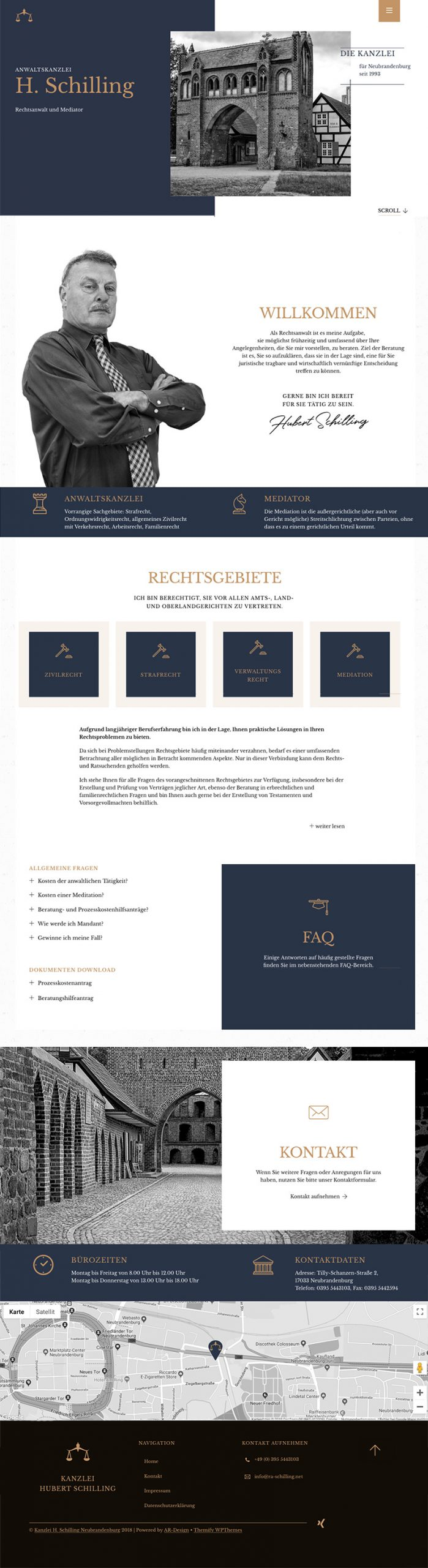 Screenshot Webdesign RA H. Schilling Neubrandenburg