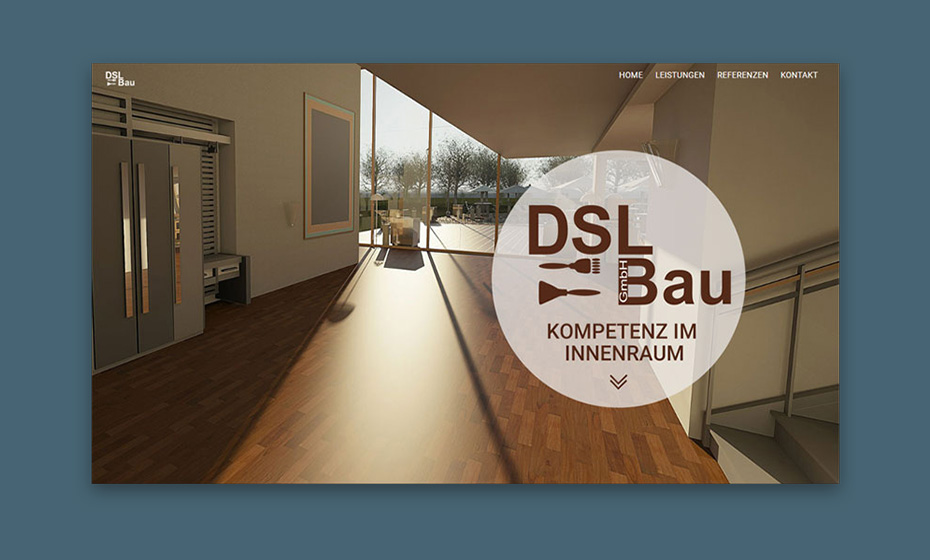 Screenshot DSL-Bau GmbH Berlin